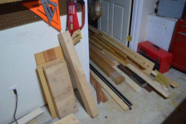 Wood on ground