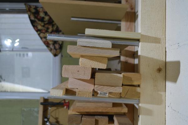 Wood on Rack